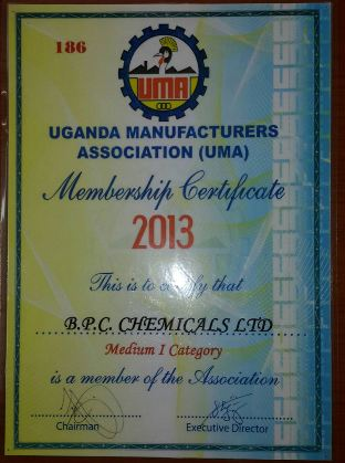 UMA Certificate